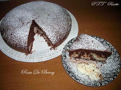 Torta cioccolato e cuore di cocco | Ricetta