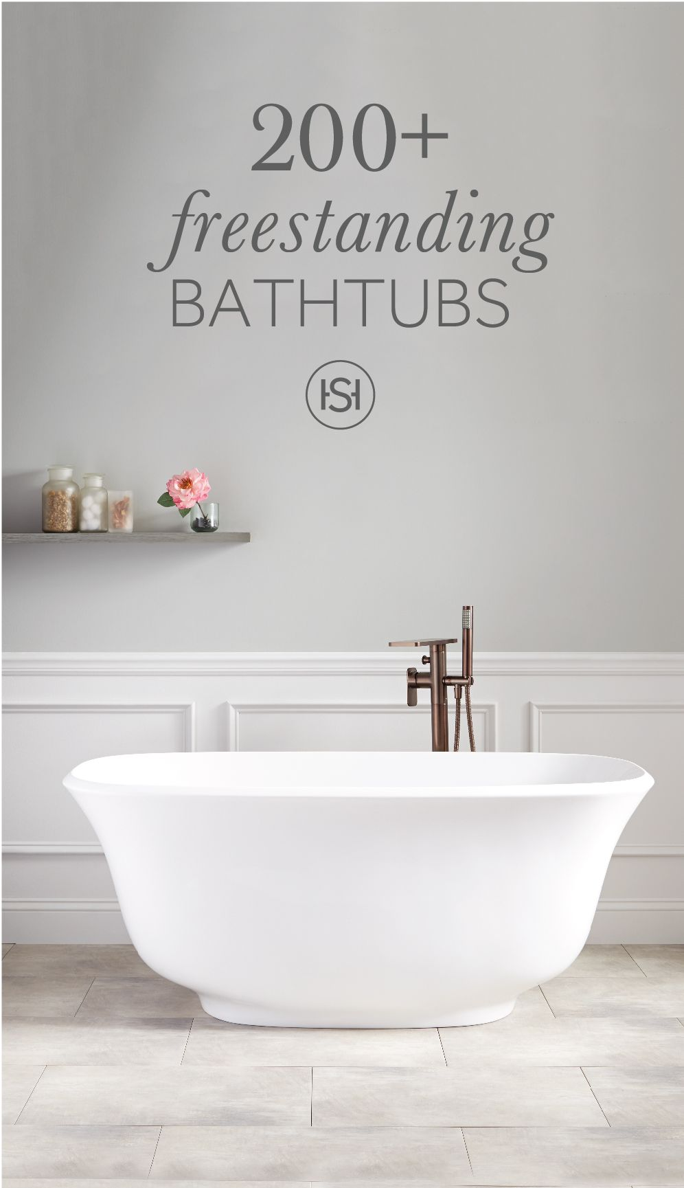 Spalike comfort awaits in a signature hardware tub the
