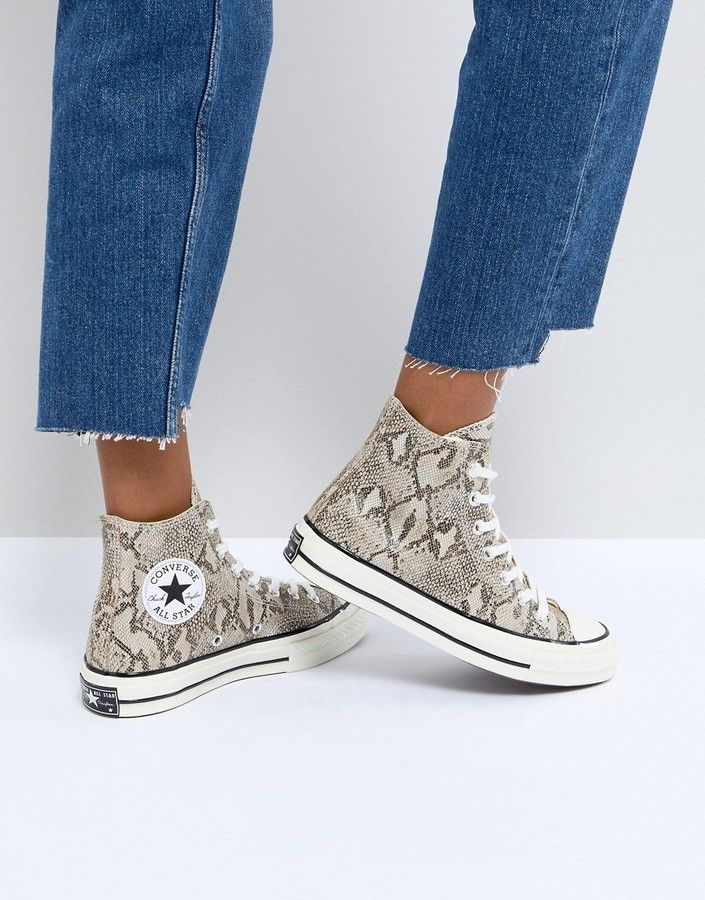Zapatillas hi-top con estampado de serpiente Chuck Taylor All Star '70 de Converse 2AAOQ