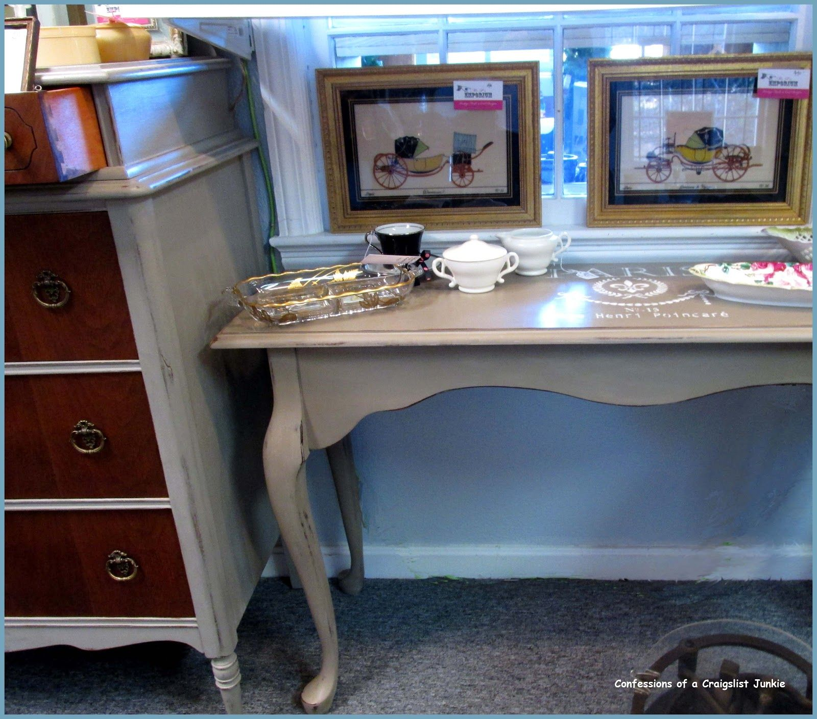 sofa table painted in ASCP Coco sofa