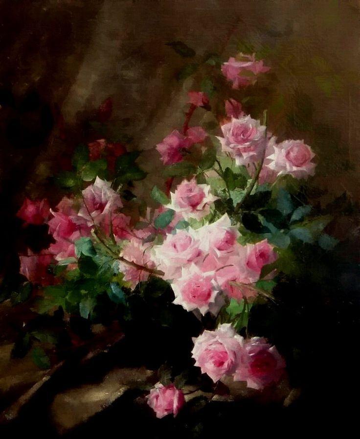 Frans Mortelmans Comment Peindre Des Roses Peintures Florales
