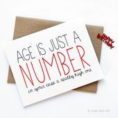 Funny Birthday Card Age Is Just A NumberSkincare