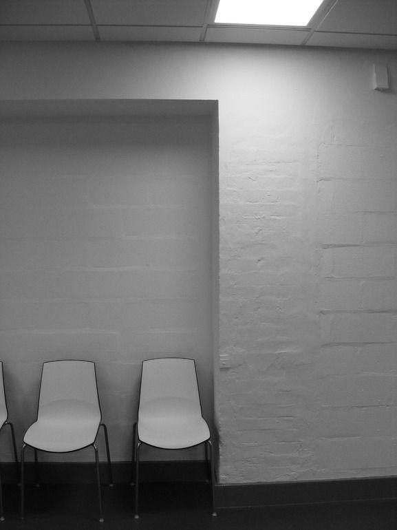 "Alph Mpeke; Black & White, 2012, Photography ""Waiting Hall """