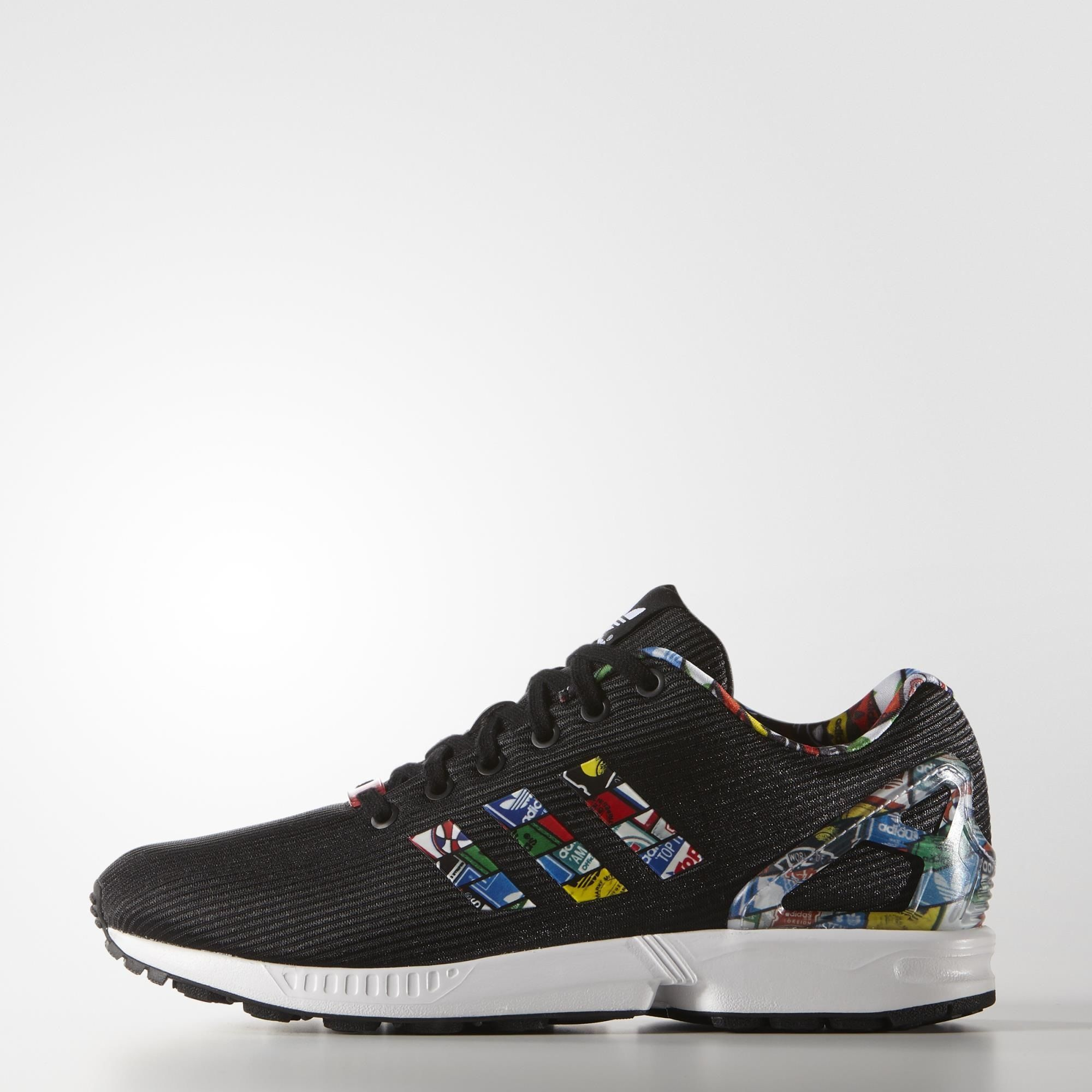 adidas zx flux color negro