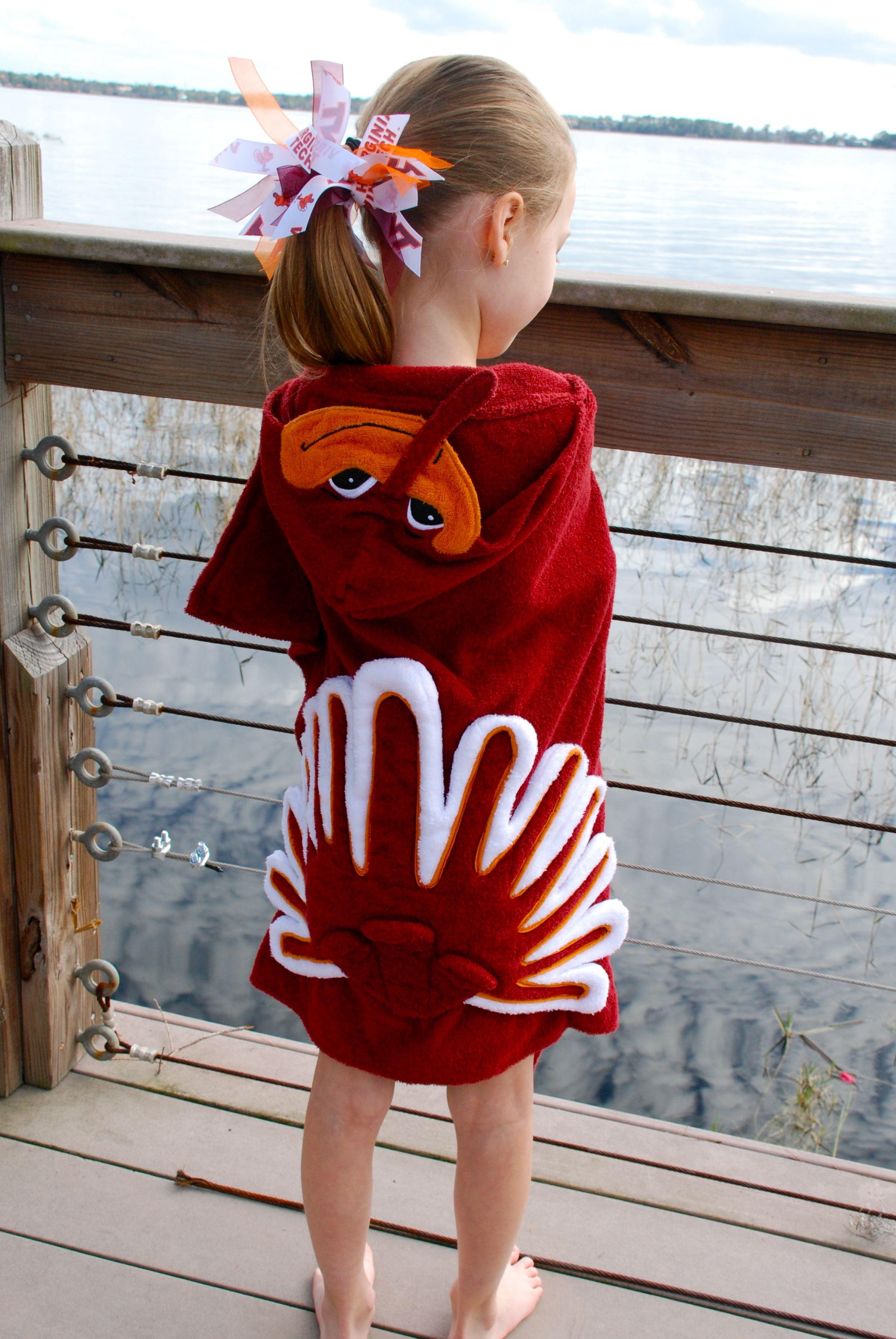 LOVE IT! Virginia Tech Hokie Bird Hooded Towel available