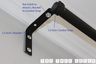 diy curtain rod, made from electrical conduit