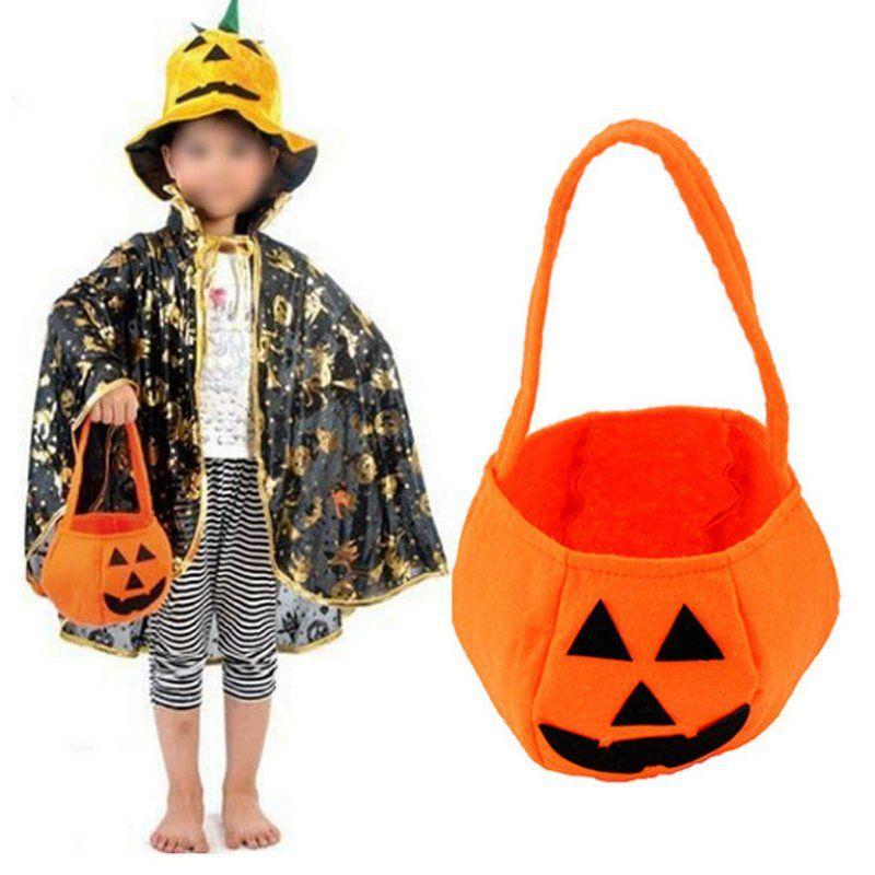 2017 Kids Pumpkin Candy Gifts Bag Halloween Decoration Festival - halloween decoration kids