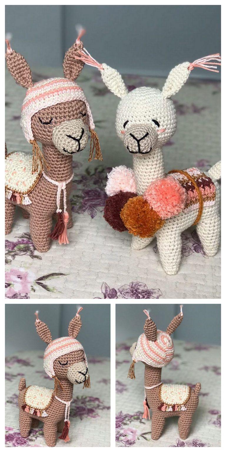 Amigurumi Llama Soft Toy Crochet Pattern | 1536x768