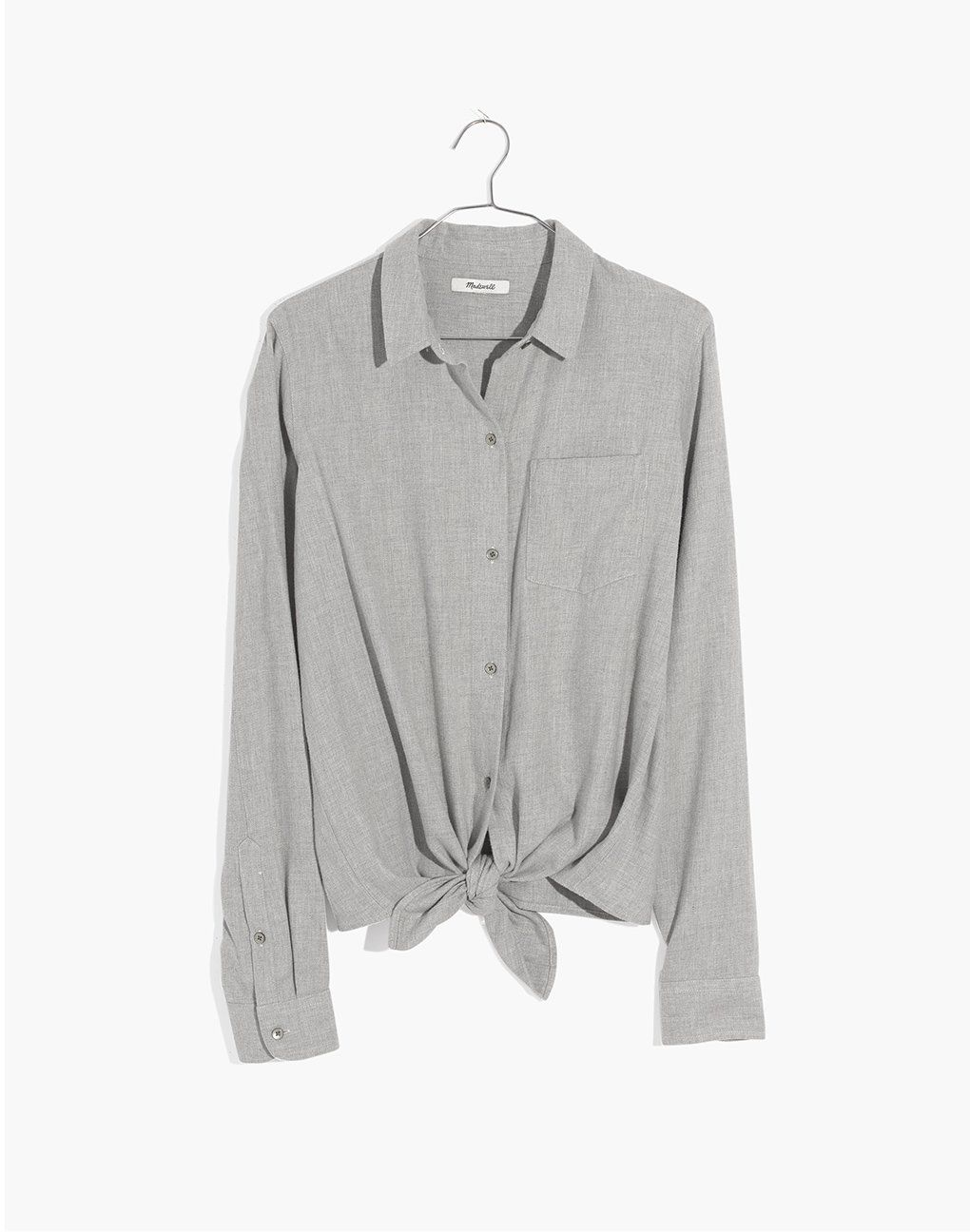 5397b1438c madewell flannel tie-front shirt. | Inspire: Fashion | Shirts ...