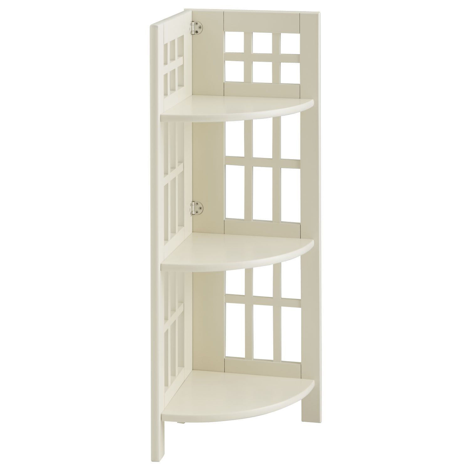Fretted Low Corner Shelf Antique White Pier 1 Imports