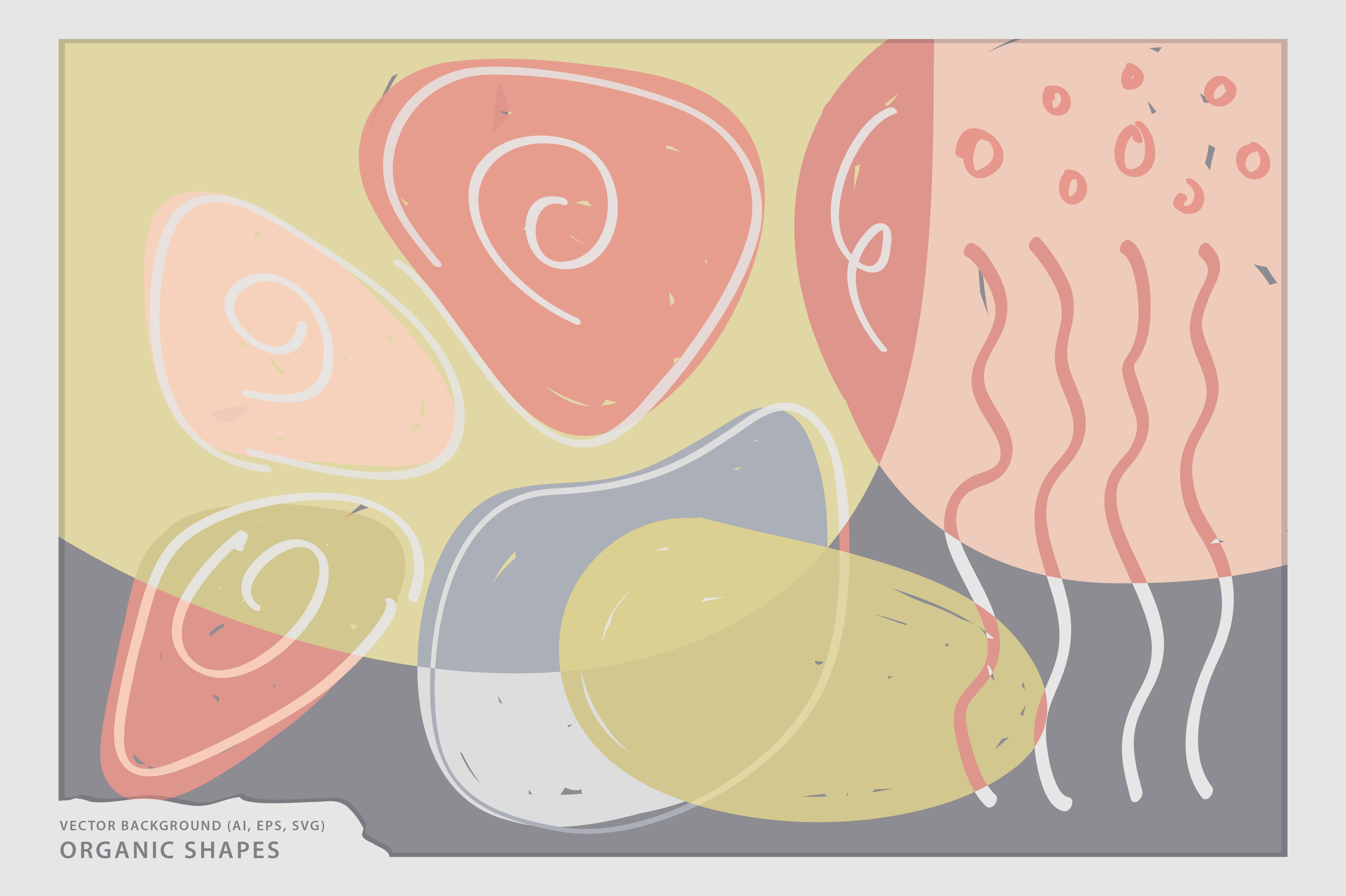 Get this awesome Organic Shapes Vector Background, perfect