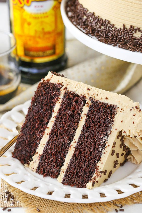 Kahlua Coffee Chocolate Layer Cake Moist Soft With Frosting So Good