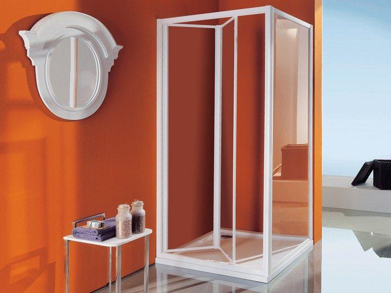 Samo Box doccia angolare con piatto con porte a soffietto