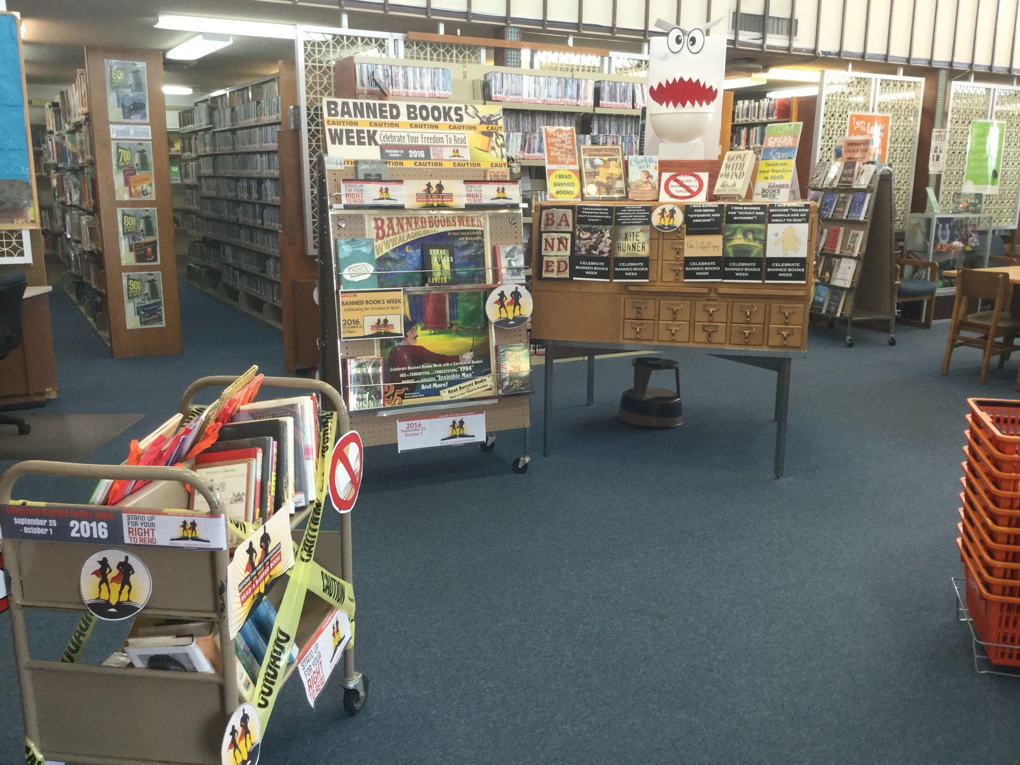 Banned Books Week Captain Underpants Toilet Library Display Banned Books Week Banned Books Book Week