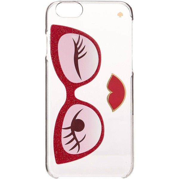 Kate Spade New York Rose Colored Glasses Resin iPhone 6 and 6s Case... (74.190 COP) ❤ liked on Polyvore featuring accessories, tech accessories, cell phone cases, red and kate spade