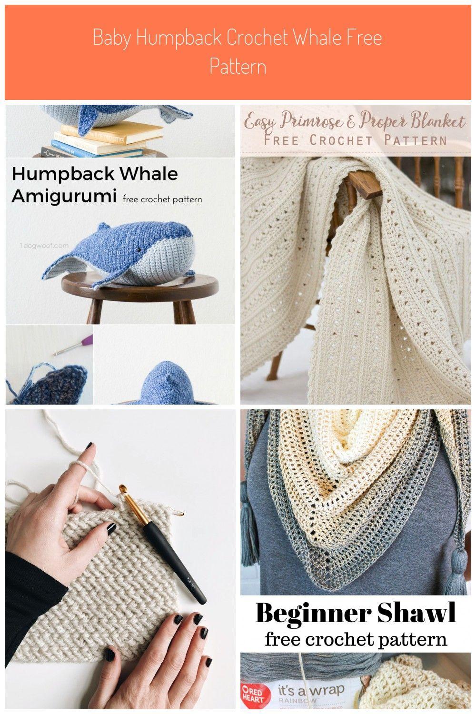 Baby Humpback Crochet Whale Free Pattern - One Dog Woof | 1500x1000
