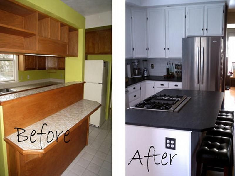 beautiful Remodeling A Small Kitchen Before And After #8: 17 best images about small kitchen remodel before and after on pinterest  renovated kitchen before and after pictures and minimalist small kitchens
