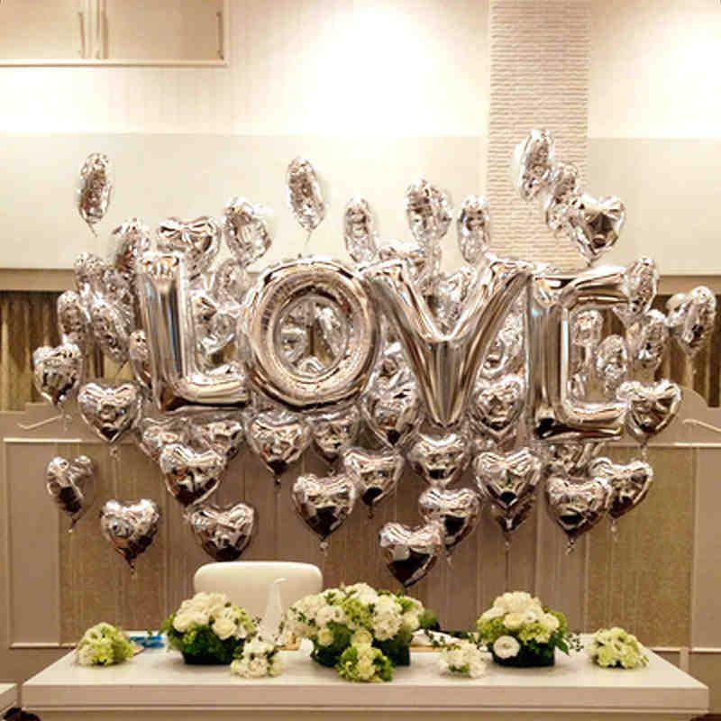 decoracion con globos para bodas de plata - buscar con google