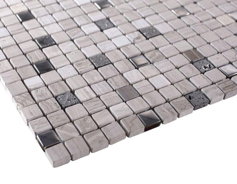 Grey Luxury Square Pebble Stone Mosaic Tiles Sheet Size 11 3 4 X 11 3 4 X 3 8 Tile Size 5 8 X 5 8 Grey Stone Mosaic Marble Glass Tile Stone Mosaic Tile