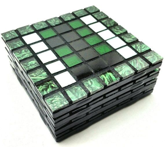 Color of Money Mosaic Art Coasters Set of by MaryJosephineMosaics