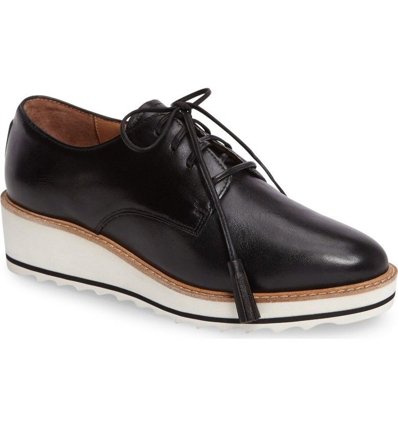 Linea Paolo Marlo Platform Oxford (Women) | Nordstrom. Leather WedgesOxford  ShoesWedge ...