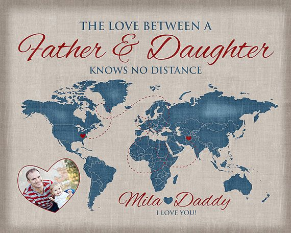 Gift For Dad Father And Daughter Quote Daddy Gift