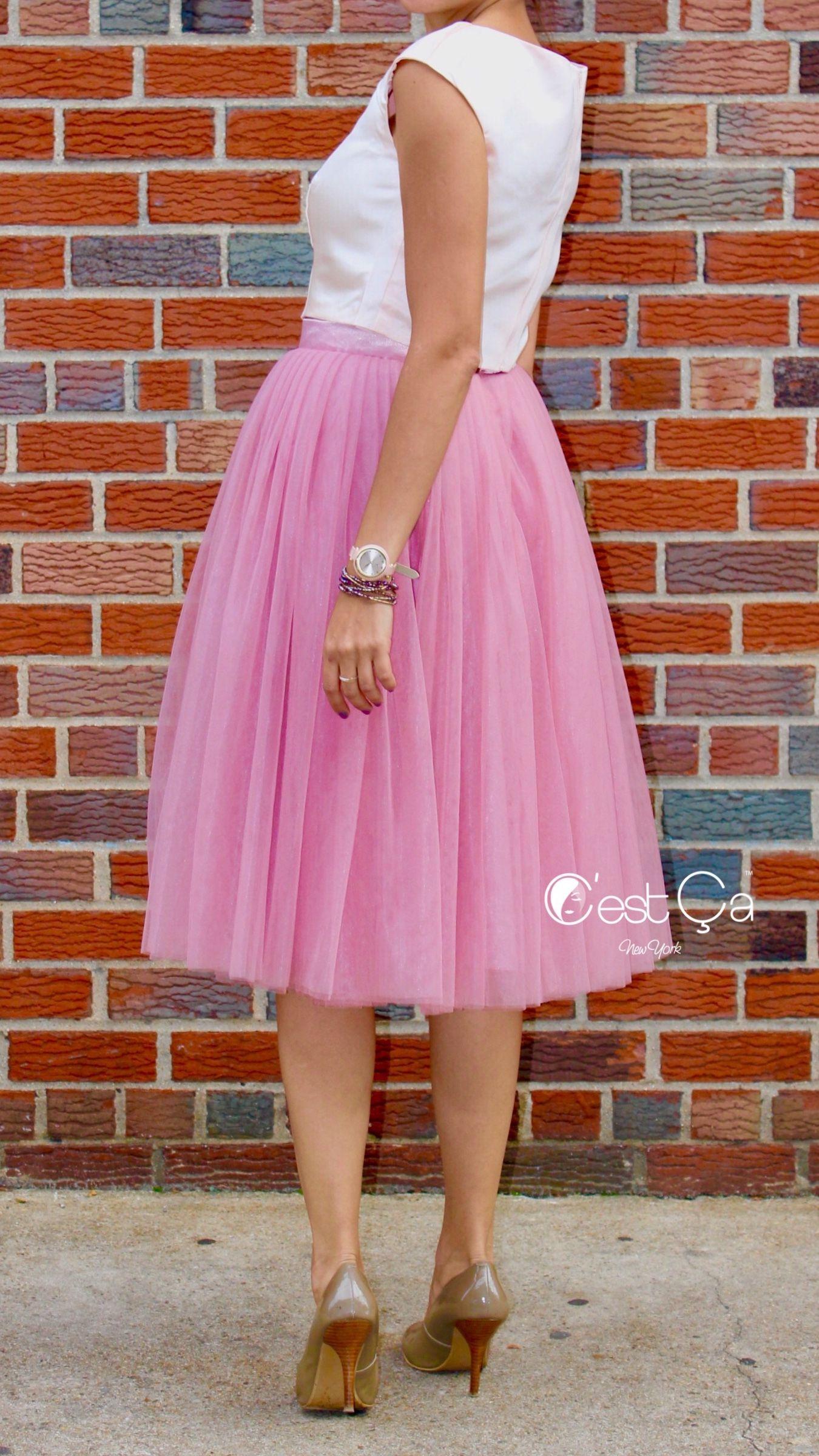 5a9dc23a18 Pink Skirt, Tulle Skirt, Tutu Skirt, Fashion Skirt, Handmade Skirt,  Bridesmaids Skirt, Bridal Skirt, White Top