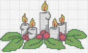 graficos de velas de natal em ponto cruz - Pesquisa Google