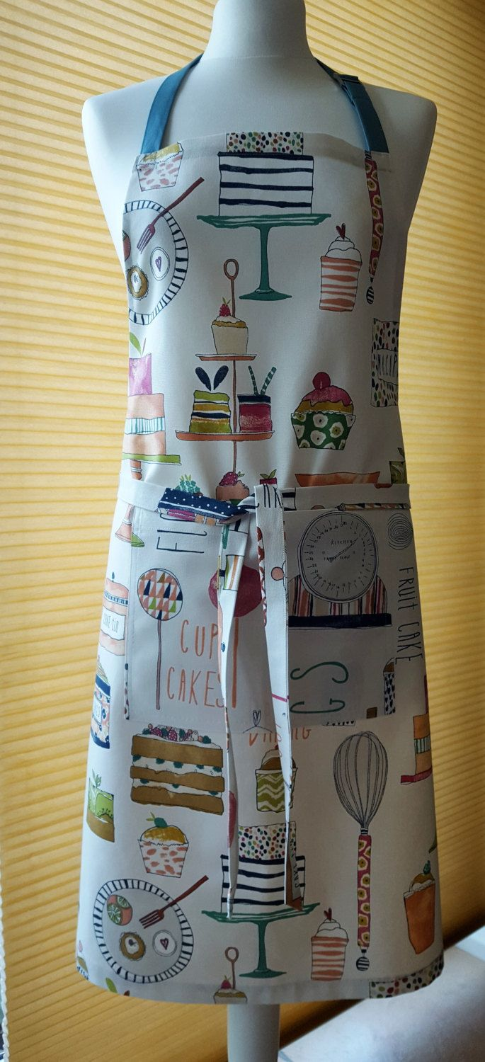 Handmade bakers cotton adjustable apron size s to xxl apron perfect birthday easter housewarming gift size s to xxl negle Images
