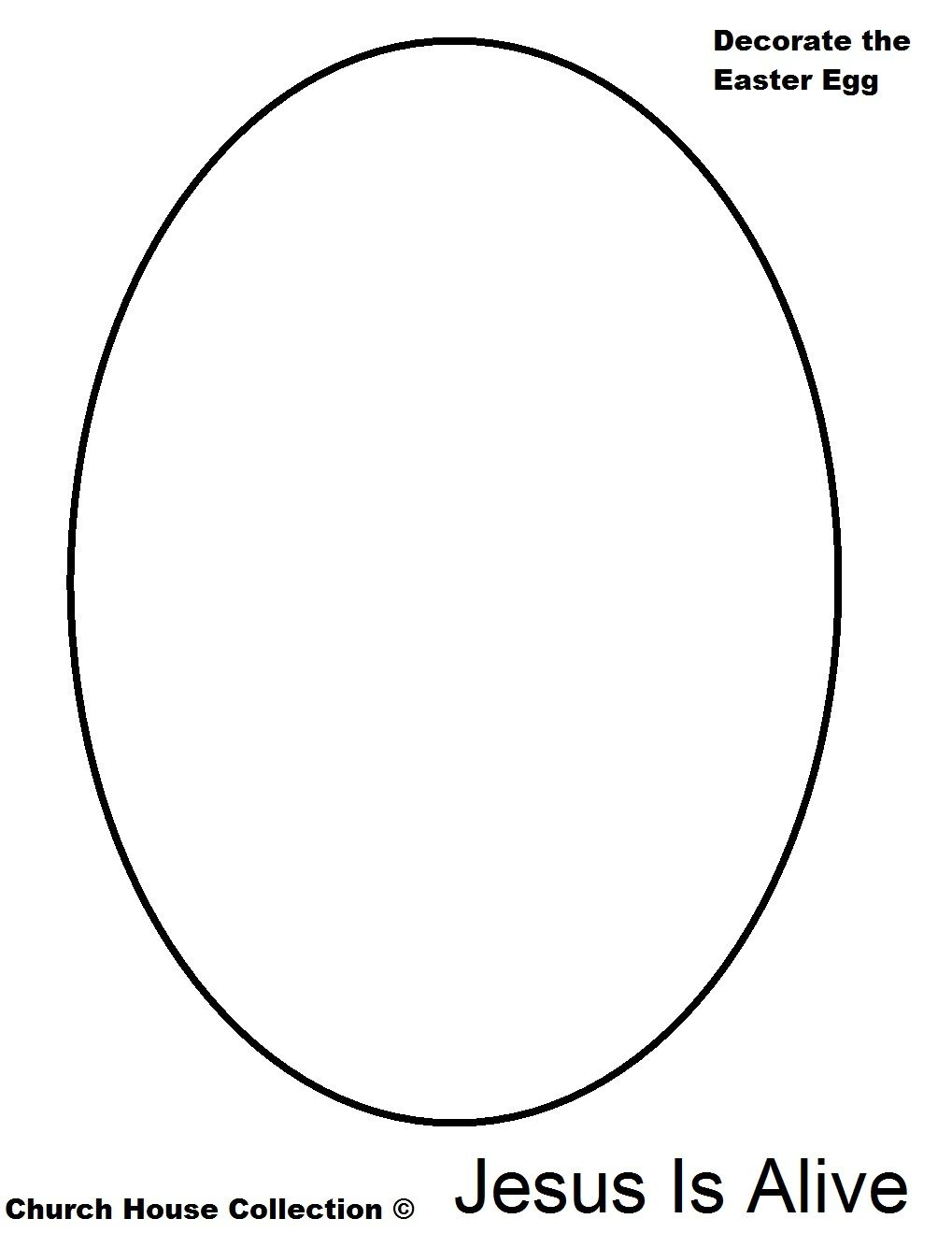 Easter Egg Coloring Page Jesus Is Alive.jpg 1,019×1,319 pixels ...