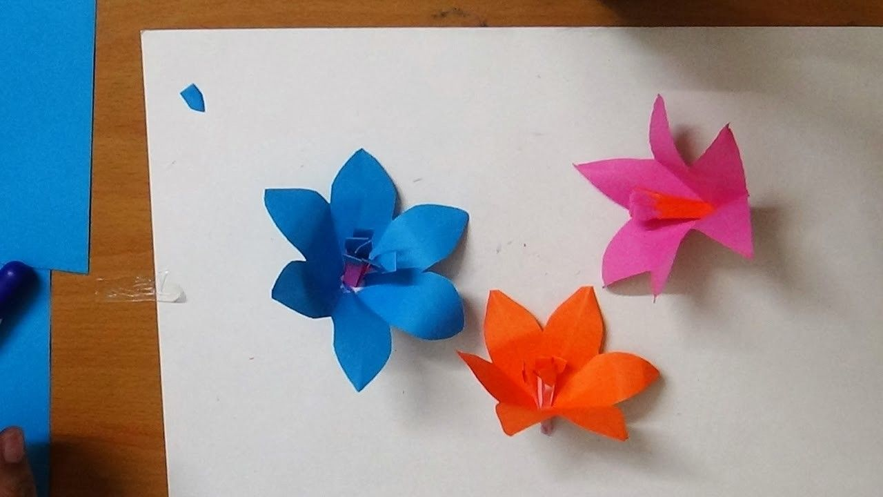 How To Make An Origami Simple Flower By Art Guru Papercraft