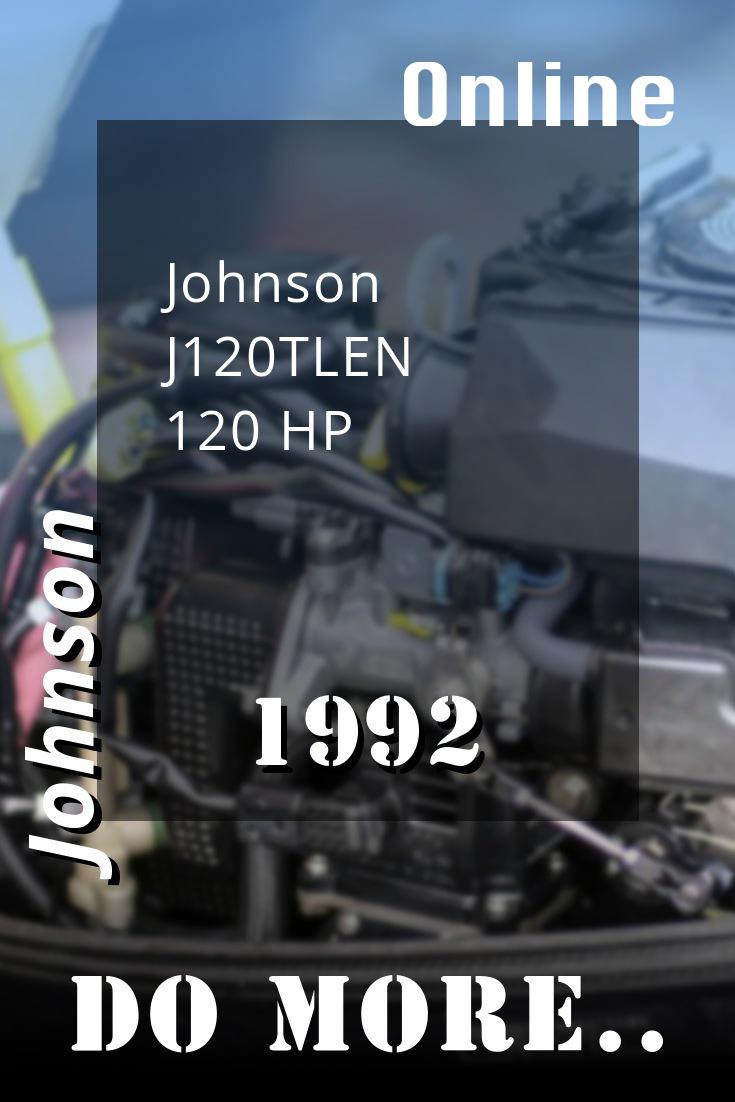 1992 J120tlen Johnson 120hp Outboard Repair Manual P  N