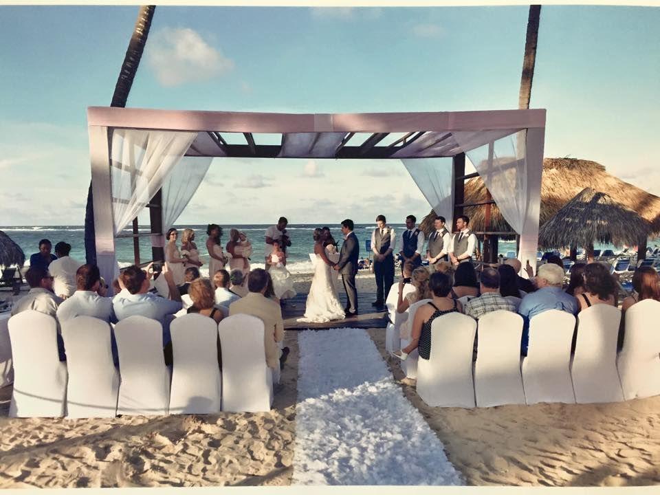 aimees royalton punta cana wedding at beach gazebo destinationwedding love beach weddings