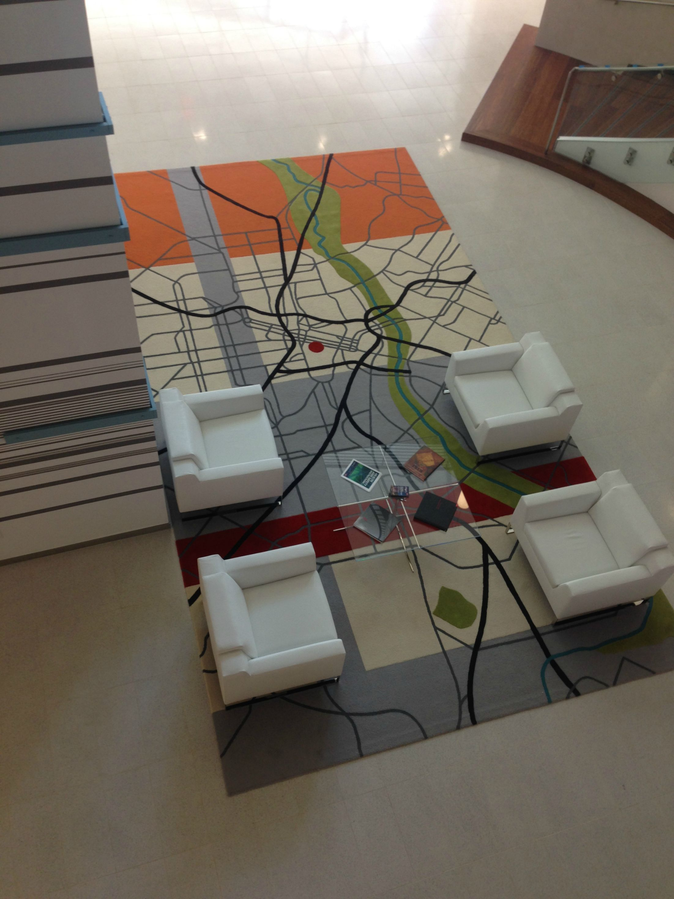 office rug. The New Rug In Our Office Lobby Is A Map Of City. Red Dot Where We Are Located. M