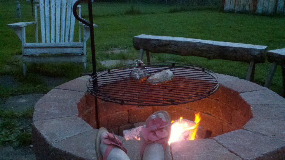 Fire Pit My Children Made For Me Last Mother 39 S Day Used Landscaping Brick Grill From Menards