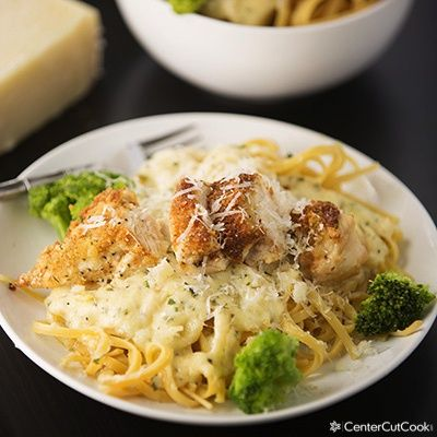 Crispy Crunchy Parmesan Crusted Chicken Alfredo Is A Meal Your Whole Family Will Love