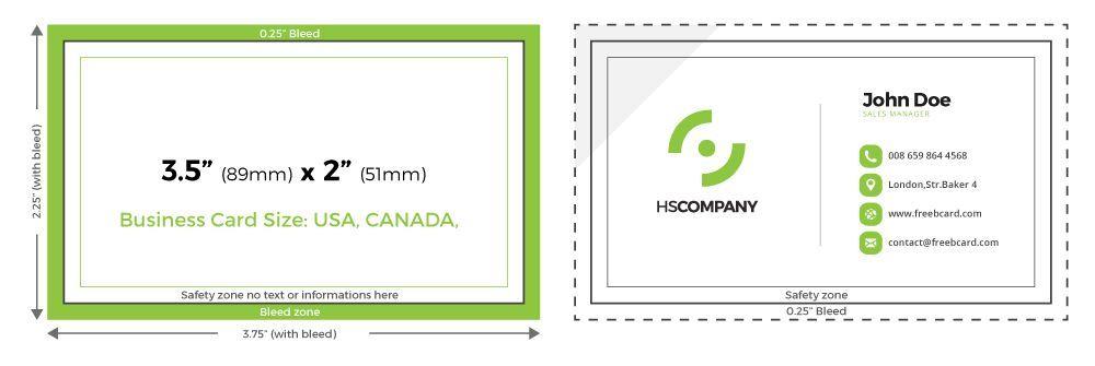 Wie Ist Die Größe Von Visitenkarten In Cm Zusammen Mit Dem
