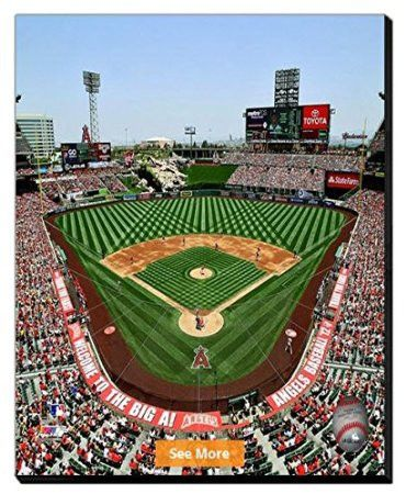 Los Angeles Angels Angel Stadium Of Anaheim Canvas Framed Over With 2 Inches Stretcher Bars Ready To Hang Awesome B Angel Stadium Los Angeles Angels Stadium