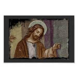 Jesus Knocking on Door Posters