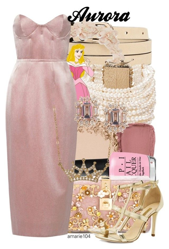 """""""Aurora"""" by amarie104 ❤ liked on Polyvore featuring Forever 21, Carole, Rosantica, Disney, OPI, Dolce&Gabbana, Katie Ermilio, Lord & Taylor and Dee Keller"""