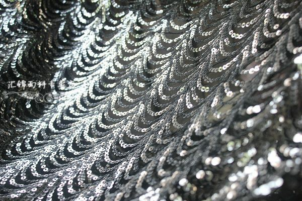 Golden Stage dance clothing sequined fabric wholesale 5% wavy fabric bud silk and gold sequins mesh - Taobao