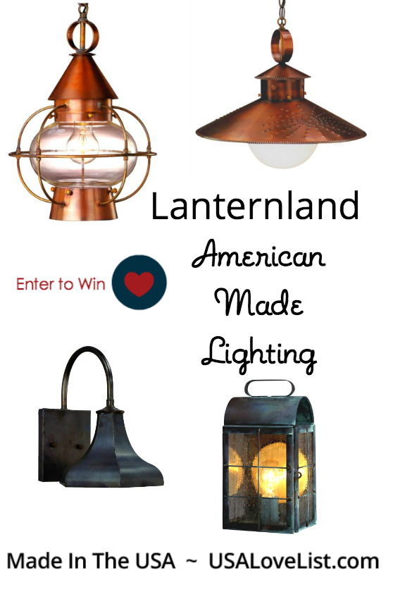 Giveaway American Made Lighting By Lanternland