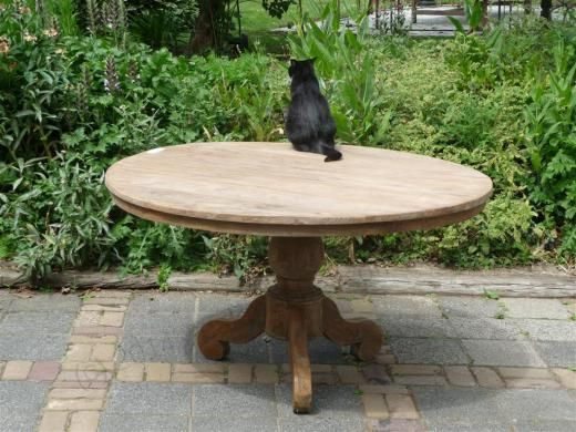 Teak Tisch Rund O 140 Cm Altes Holz Bild 1 Teak Holz Altholz