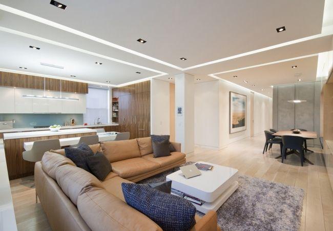 Moderne Deckengestaltung U2013 83 Schlaf  U0026 Wohnzimmer Ideen #paneele #ideen # Wohnzimmer #