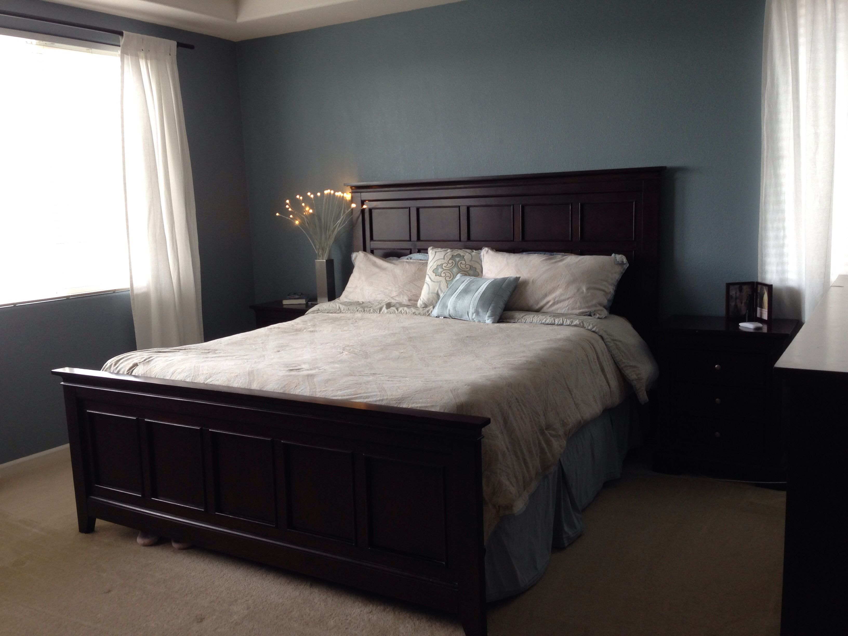 valspar blue twilight just painted our room and i love this color much better than the cookie. Black Bedroom Furniture Sets. Home Design Ideas