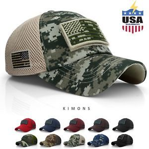 12.99 USA American Flag hat Detachable Baseball Mesh Tactical Military  Army cap US 8ed2ee34652