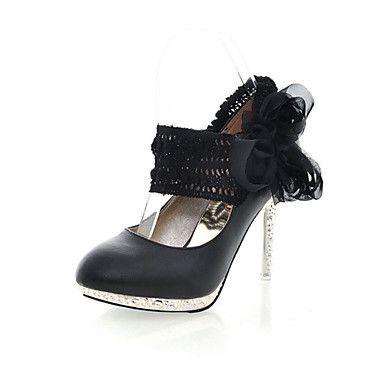 Stiletto Heels talón de las mujeres de piel sintética Bombas / zapatos de los tacones con la flor (más colores) – USD $ 24.99