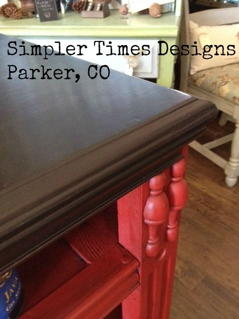 Closeup Photo Of Our Countertop At Simpler Times Designs In Parker, CO  Using General Finishes