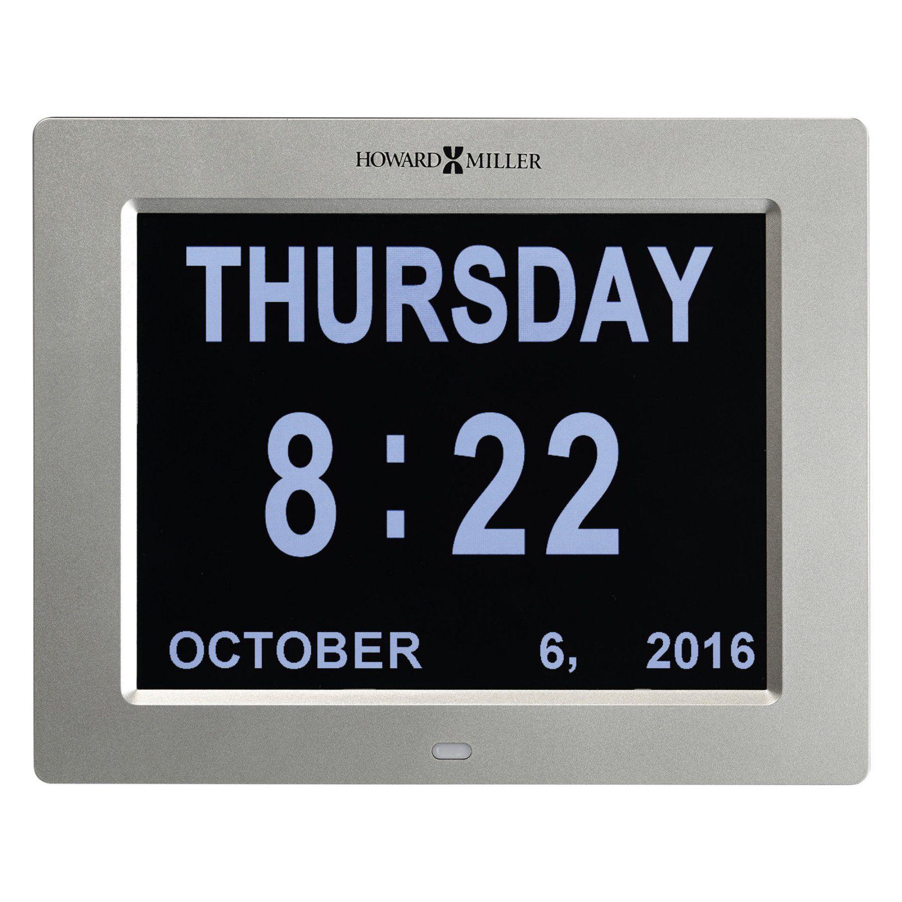 Howard Miller Memory 8.5 in. Digital Wall Clock 625632