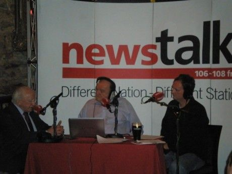 Michael D Higgins, George Hook and Michael Graham - May 2010